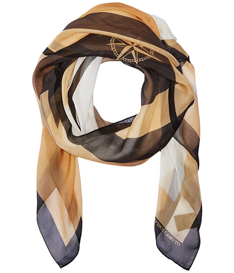Vince Camuto Military Color Block Square Scarf - Sand