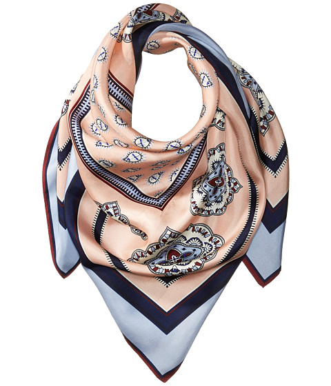Vince Camuto Jewel Paisley Square Scarf - Blue