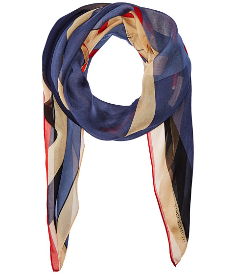 Vince Camuto Military Color Block Square Scarf - Blue
