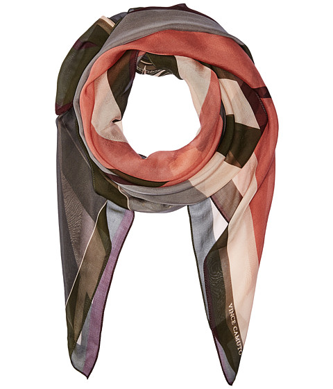 Vince Camuto Military Color Block Square Scarf - Green