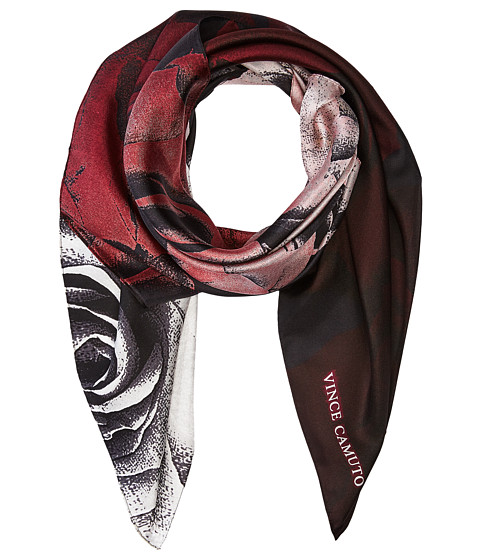 Vince Camuto Dipped Roses Square Scarf - Fig