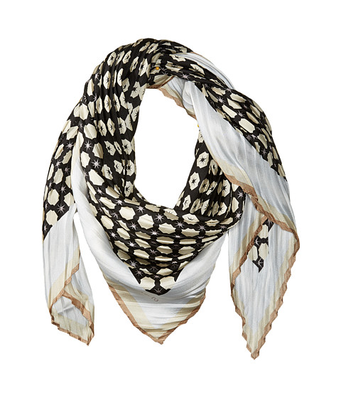 Vince Camuto Military Dot Pleated Square Scarf - Black