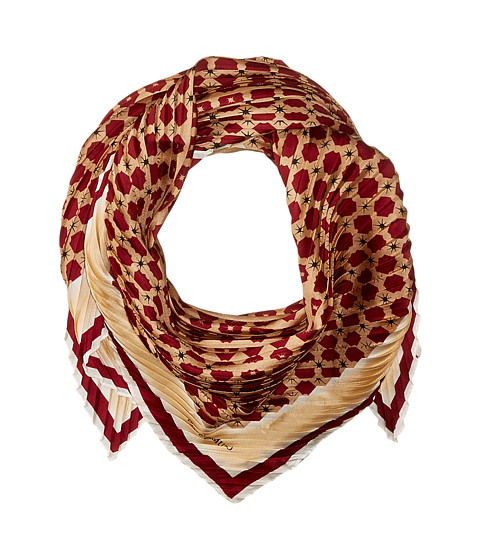 Vince Camuto Military Dot Pleated Square Scarf - Pomegranate