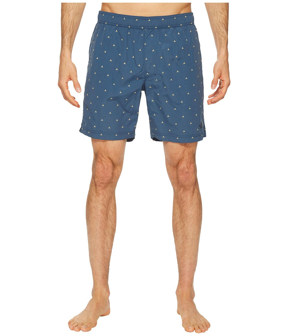 The North Face Class V Pull-On Trunk (Shady Blue Tent Print) Men