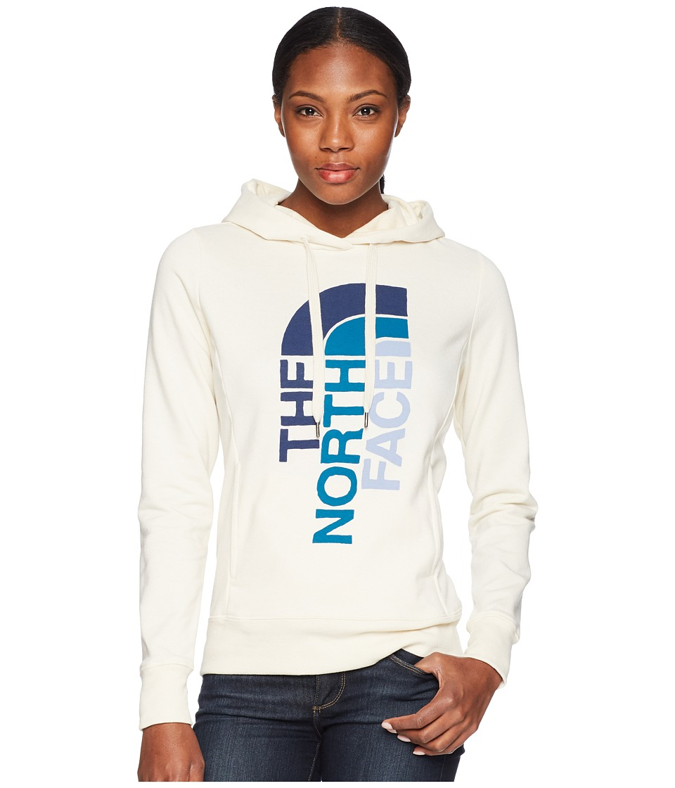 The North Face - Trivert Pullover Hoodie (Vintage White Heather/Blue Coral Multi) Womens Sweatshirt