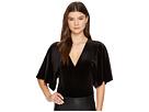 1.STATE V-Neck Flounce Sleeve Velvet Bodysuit