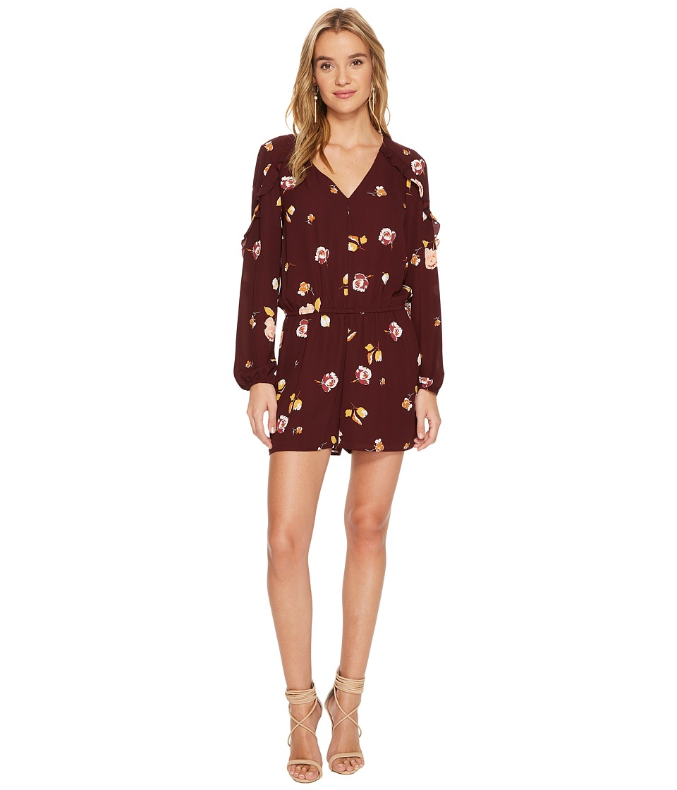 1.STATE - Long Sleeve V-Neck Ruffle Sleeve Romper
