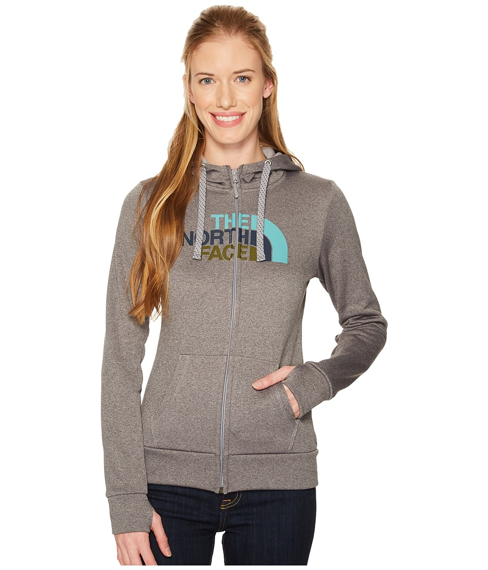The North Face Fave 1/2 Dome Full Zip 2.0 (TNF Medium Grey Heather/Bristol Blue) Women
