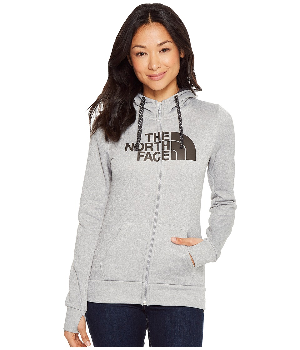 The North Face Fave 1/2 Dome Full Zip 2.0 (TNF Light Grey Heather/Asphalt Grey) Women