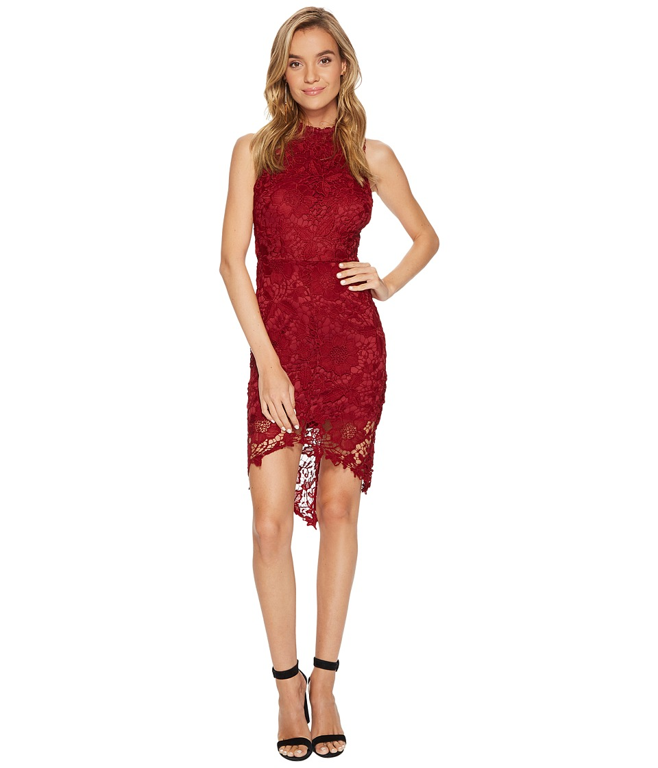 ASTR the Label Samantha Lace Dress (Wine) Women