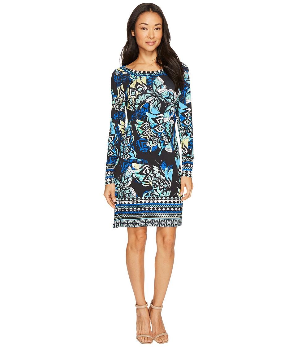 Hale Bob Take Wing Microfiber Dress (Blue) Women