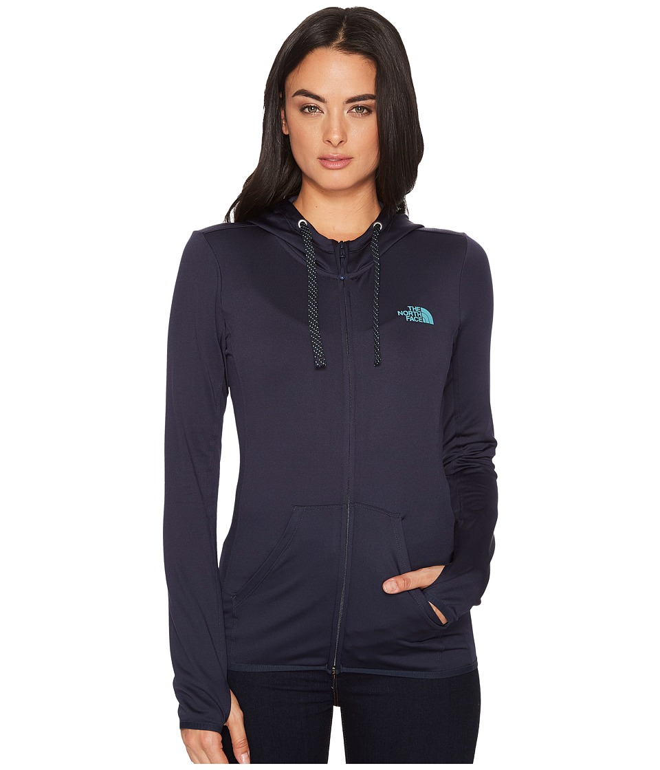 The North Face Fave Lite LFC Full Zip Hoodie (Urban Navy/Bristol Blue) Women