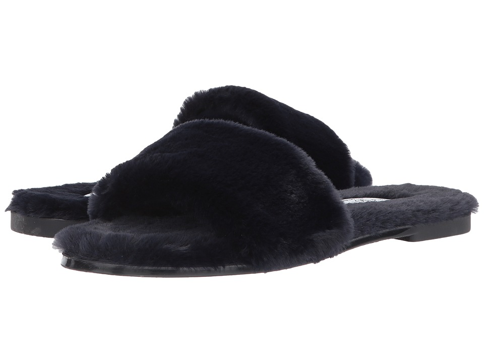 Chinese Laundry - Mulholland Sandal (Navy Fur) Womens Slippers
