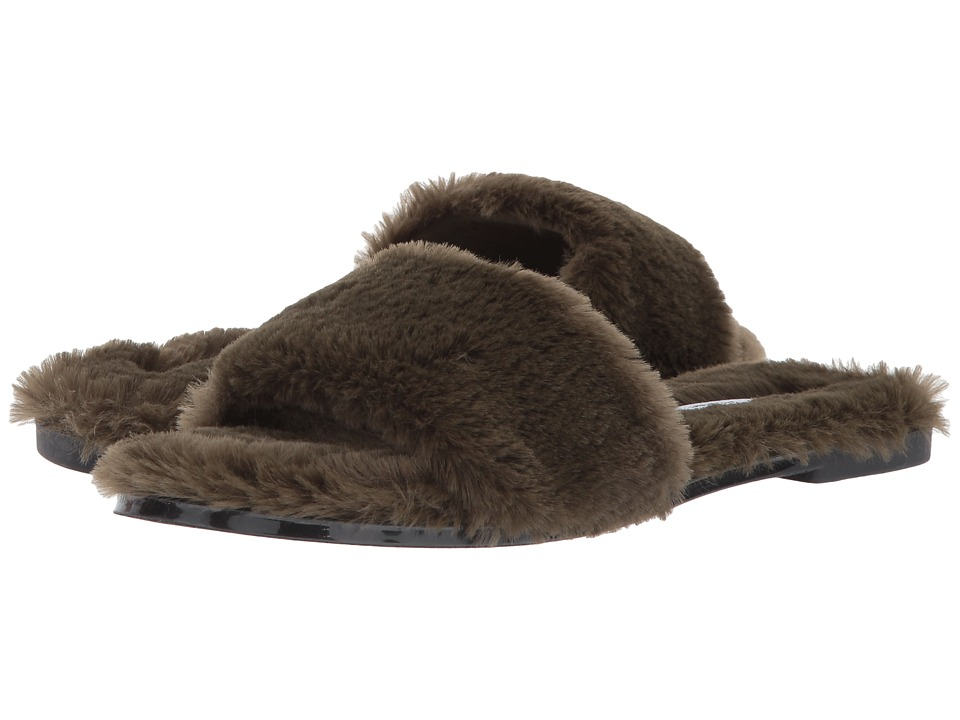 Chinese Laundry Mulholland Sandal (Olive Fur) Women's Sli...