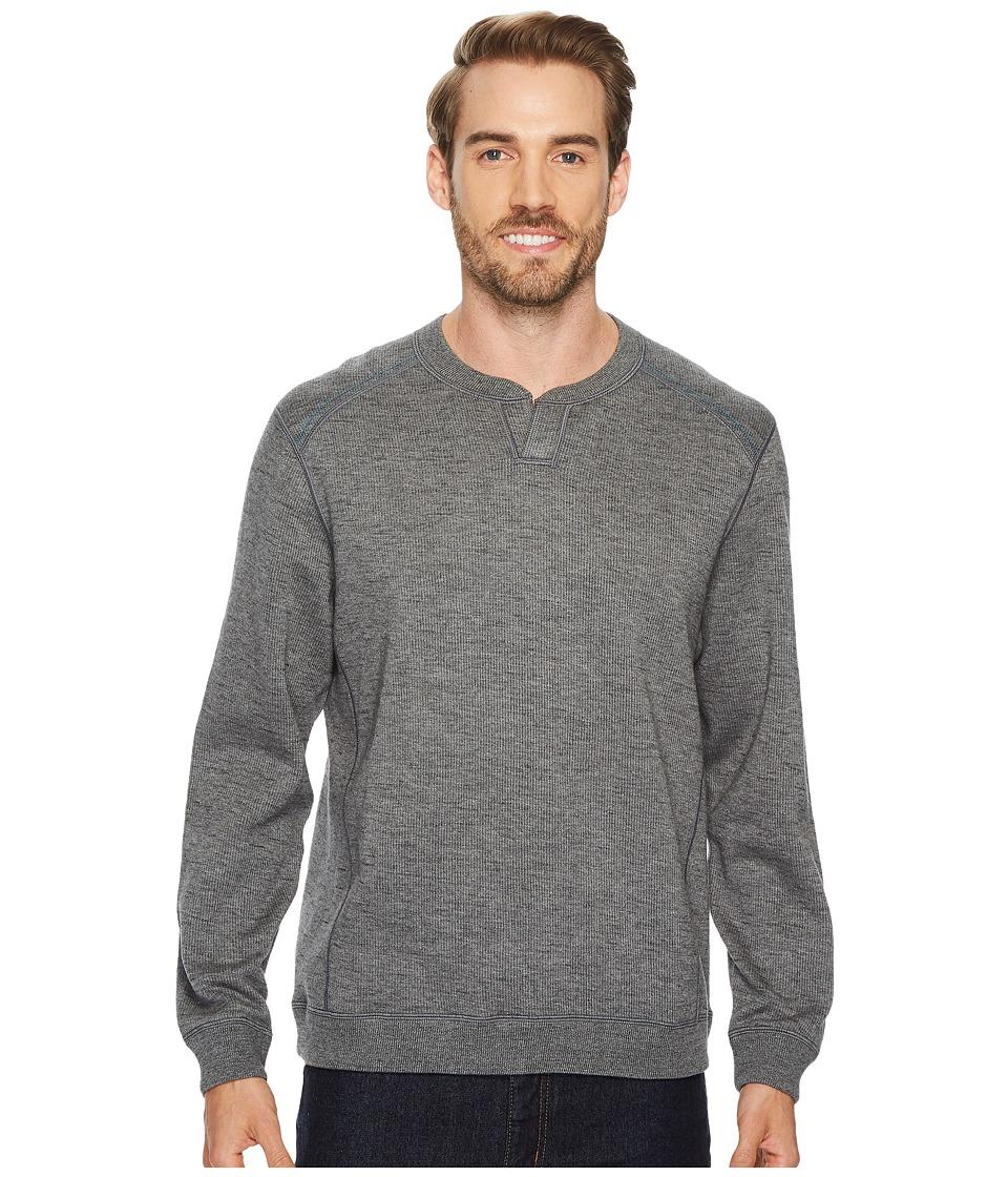 Tommy Bahama Reversible Flipsider Abaco Sweater (Storm Grey Heather) Men