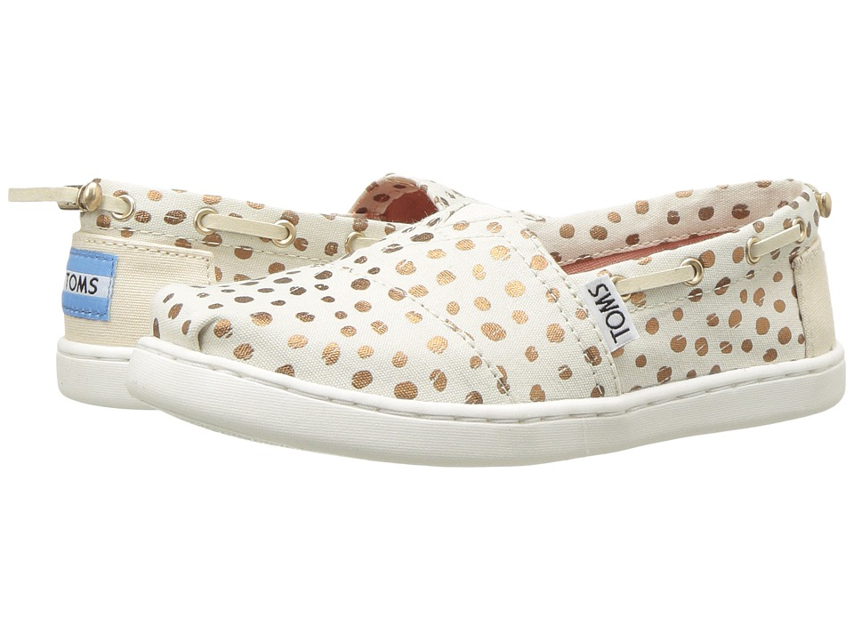 TOMS Kids Bimini (Little Kid/Big Kid) (Rose Gold Dots) Girl's Shoes