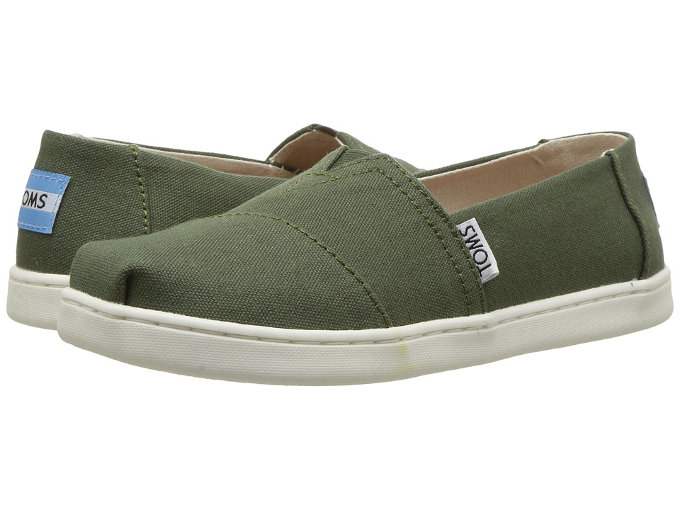 TOMS Kids Alpargata (Little Kid/Big Kid) (Pine Canvas) Kid's Shoes
