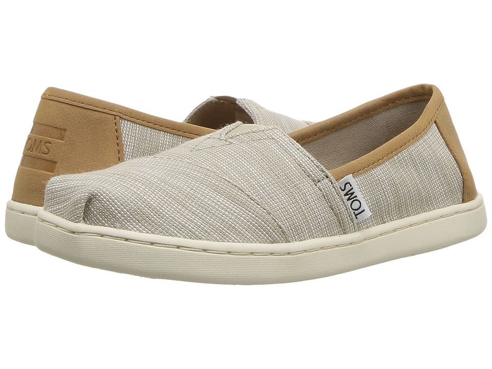 TOMS Kids Alpargata (Little Kid/Big Kid) (Oxford Tan Stripe Chambray) Boy's Shoes
