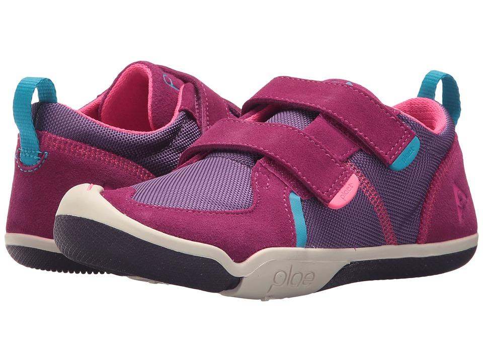 PLAE - Ty (Little Kid) (Fuchsia/Purple) Girls Shoes