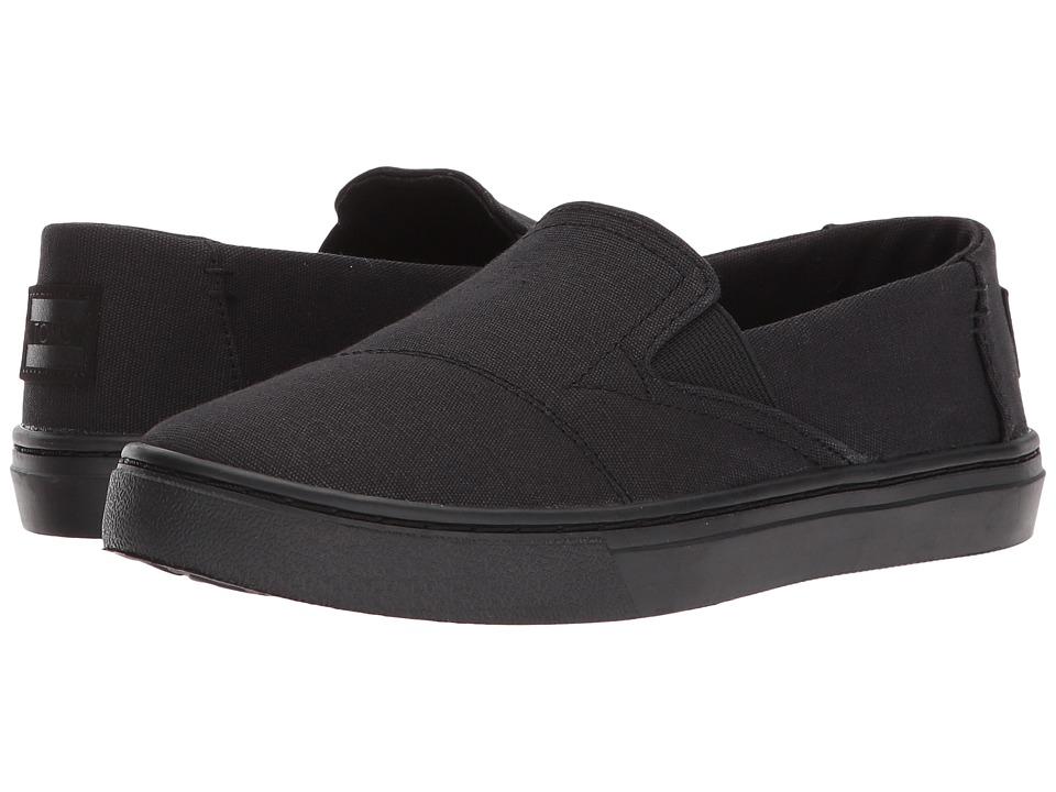 TOMS Kids - Luca (Little Kid/Big Kid) (Black Canvas) Boys Shoes