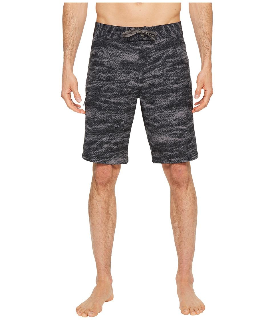 Under Armour - UA Reblek Printed Boardshorts (Black Stealth/Gray Graphite) Mens Swimwear