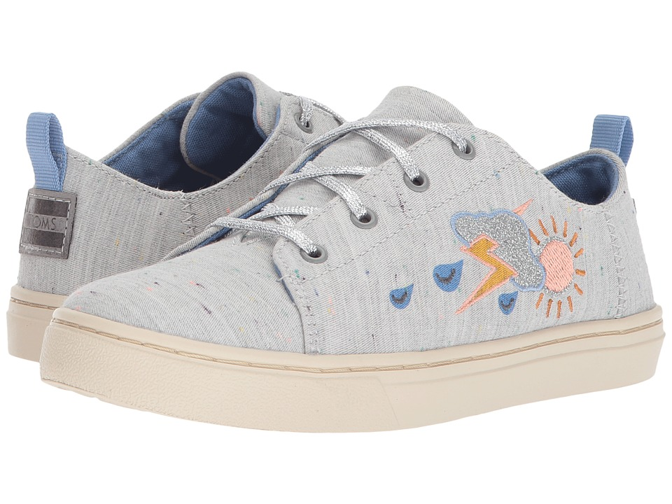 TOMS Kids Lenny (Little Kid/Big Kid) (Grey Multi Drizzly Weather) Girl's Shoes