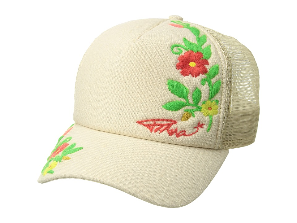 Prana - Prana Embroidered Trucker (Light Stone) Caps
