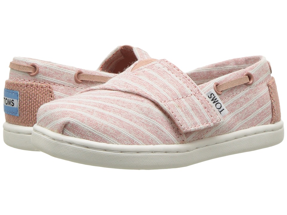 TOMS Kids Bimini (Infant/Toddler/Little Kid) (Bloom Chambray Stripe) Girl's Shoes
