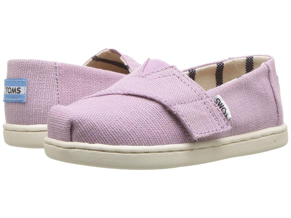 TOMS Kids - Venice Collection Alpargata (Infant/Toddler/Little Kid) (Soft Lilac Heritage Canvas) Girls Shoes