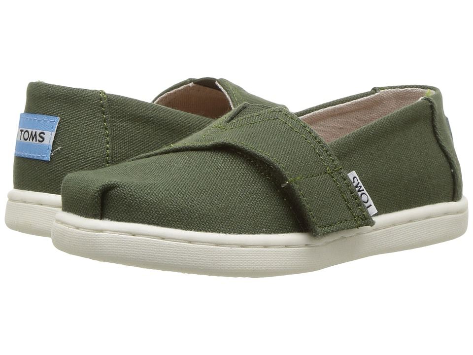 TOMS Kids Alpargata (Infant/Toddler/Little Kid) (Pine Canvas) Kid's Shoes