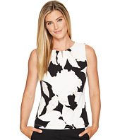 Ivanka Trump - Knit Printed Sleeveless Bead Neck Top