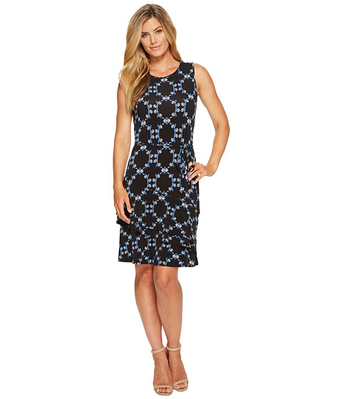 Ivanka Trump Printed Sleeveless Matte Jersey Dress