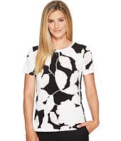 Ivanka Trump - Knit Printed Button Snap Shirt