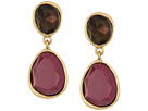 The Sak Double Stone Clip Earrings