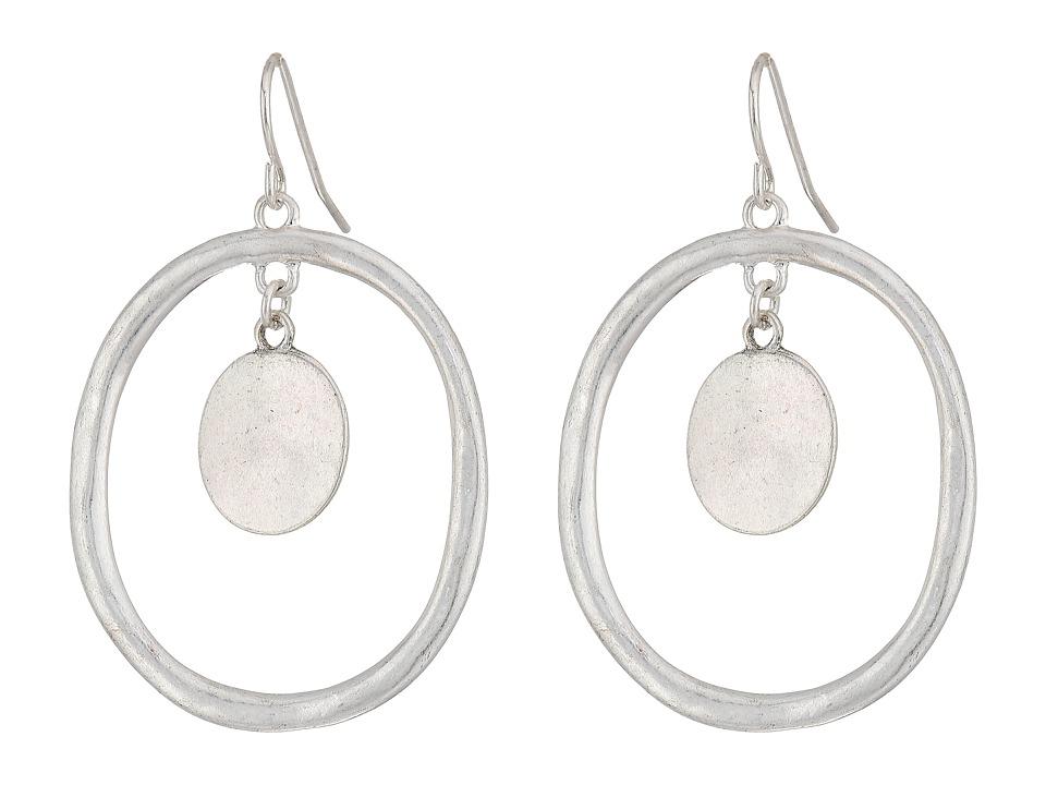 The Sak - Metal Doorknocker Earrings (Silver) Earring
