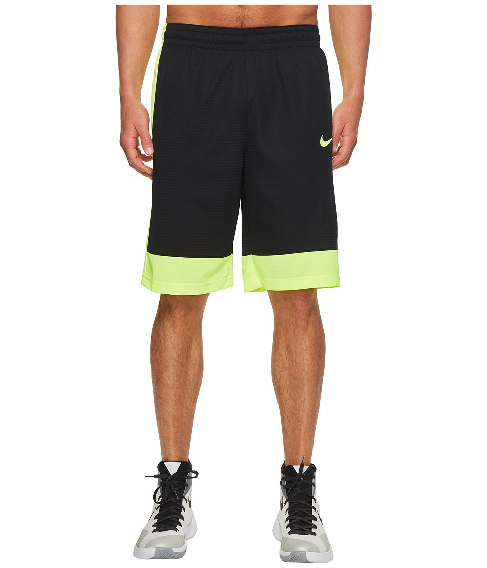 Nike Fastbreak Basketball Short (Black/Volt/Volt) Men