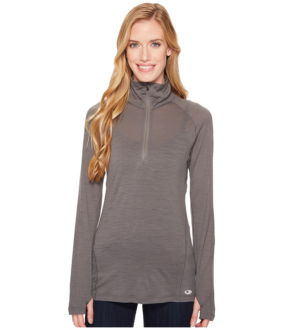 Icebreaker - Zeal Merino Long Sleeve 1/2 Zip (Metal) Womens Clothing