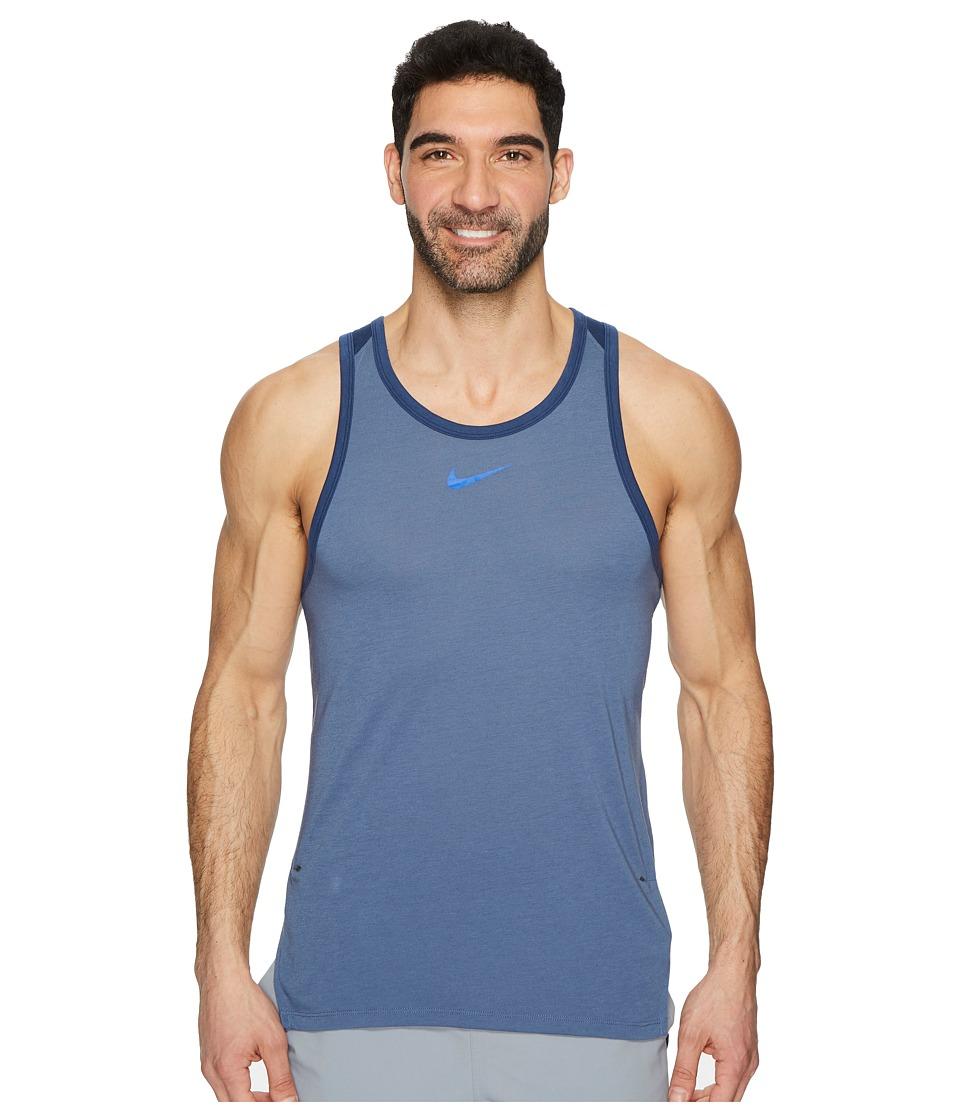 Nike Breathe Elite Sleeveless Top (Diffused Blue/Navy/Hyper Cobalt) Men