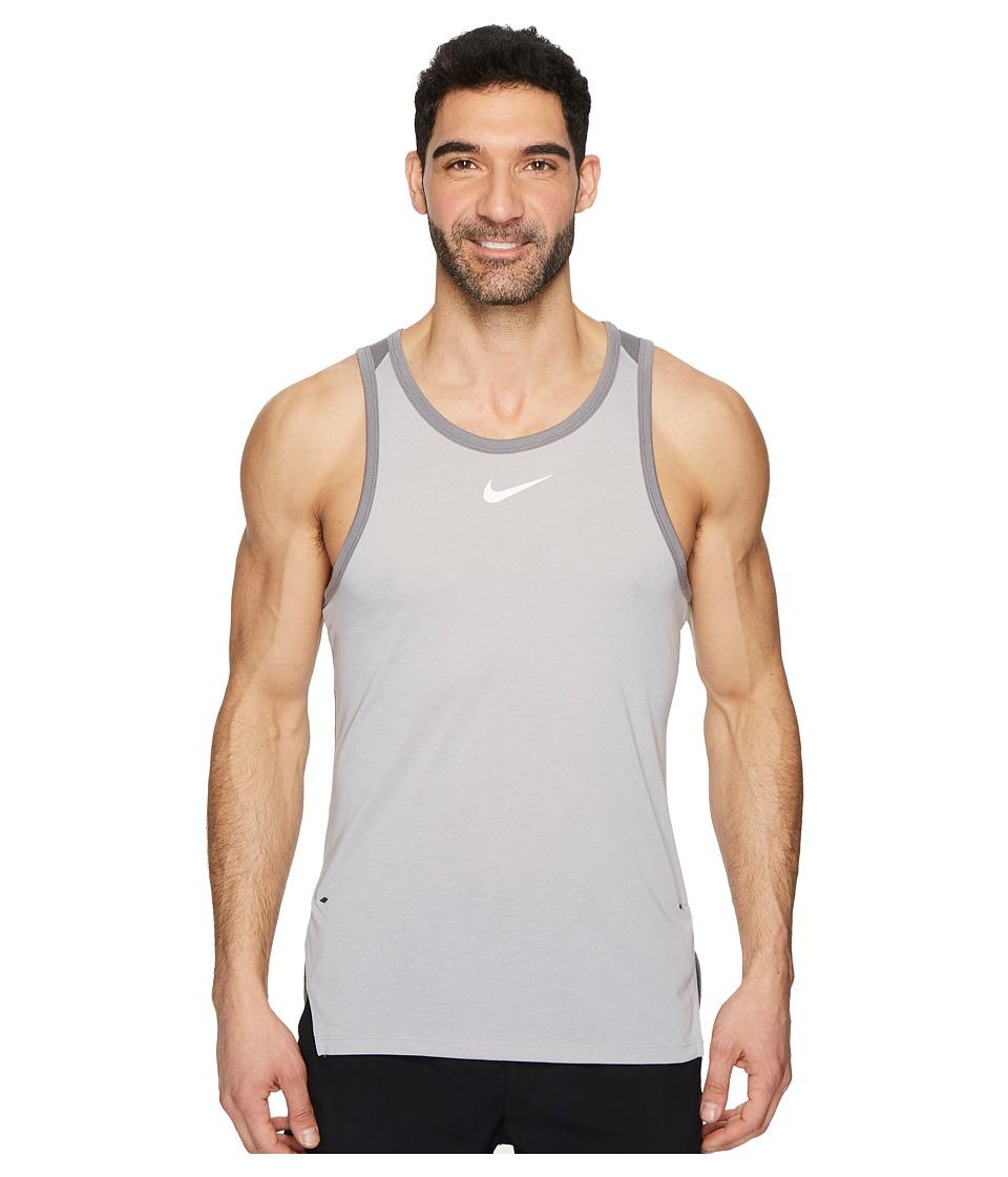 Nike Breathe Elite Sleeveless Top (Atmosphere Grey/Gunsmoke/White) Men