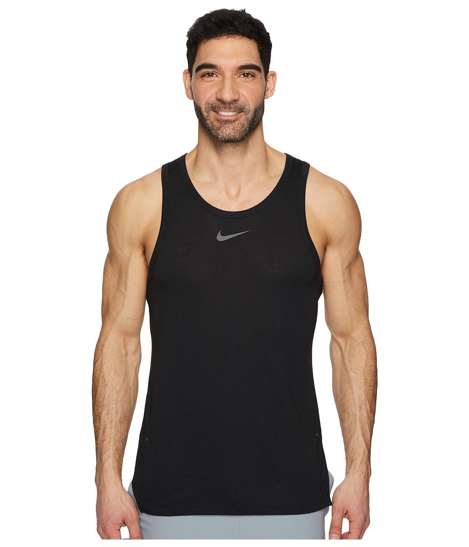 Nike Breathe Elite Sleeveless Top (Black/White) Men