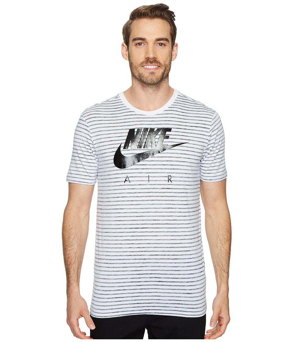 Nike Sportswear Striped T-Shirt (White/Black) Men