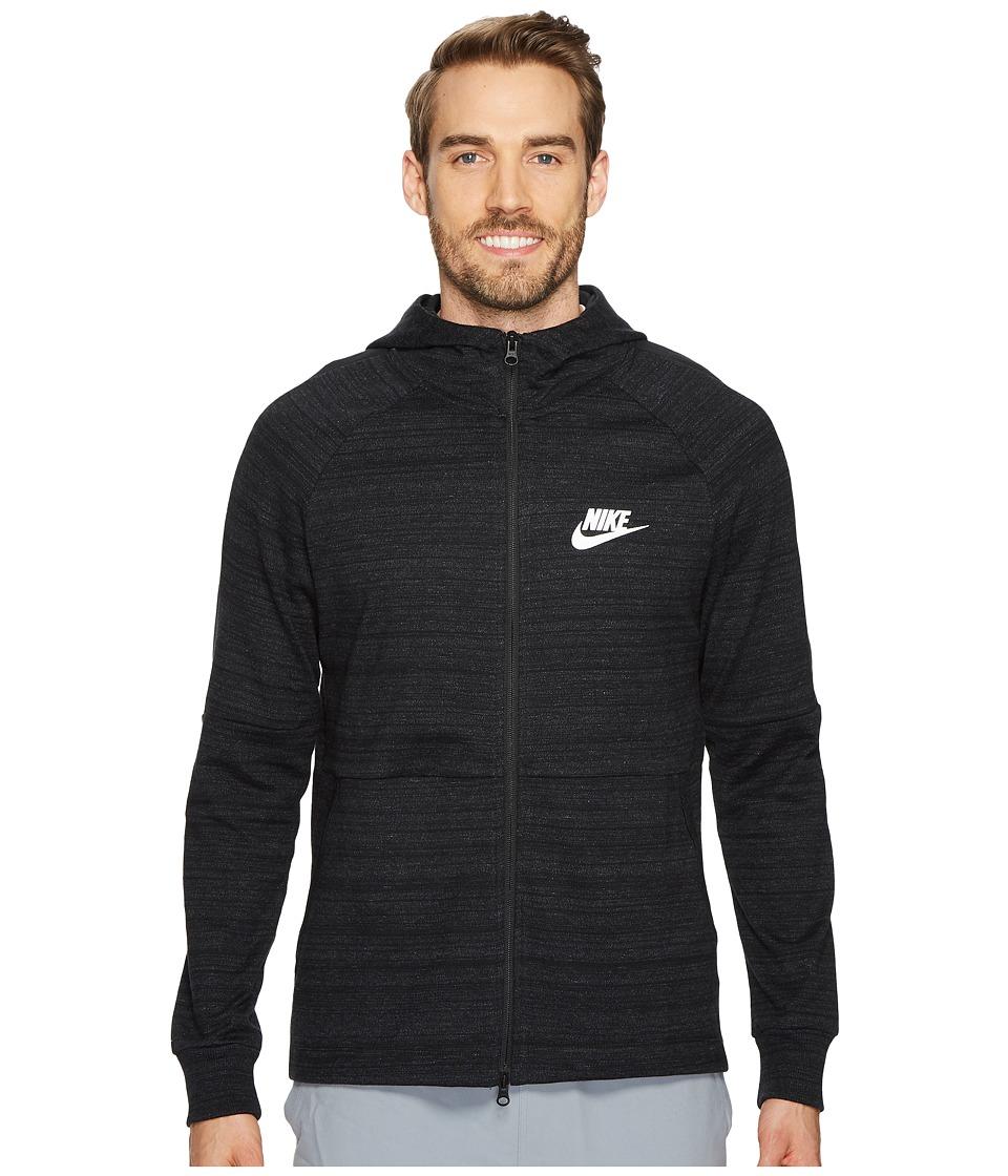 Nike - Sportswear Advance 15 Full-Zip Jacket (Black/Heather/Black/White) Mens Sweatshirt