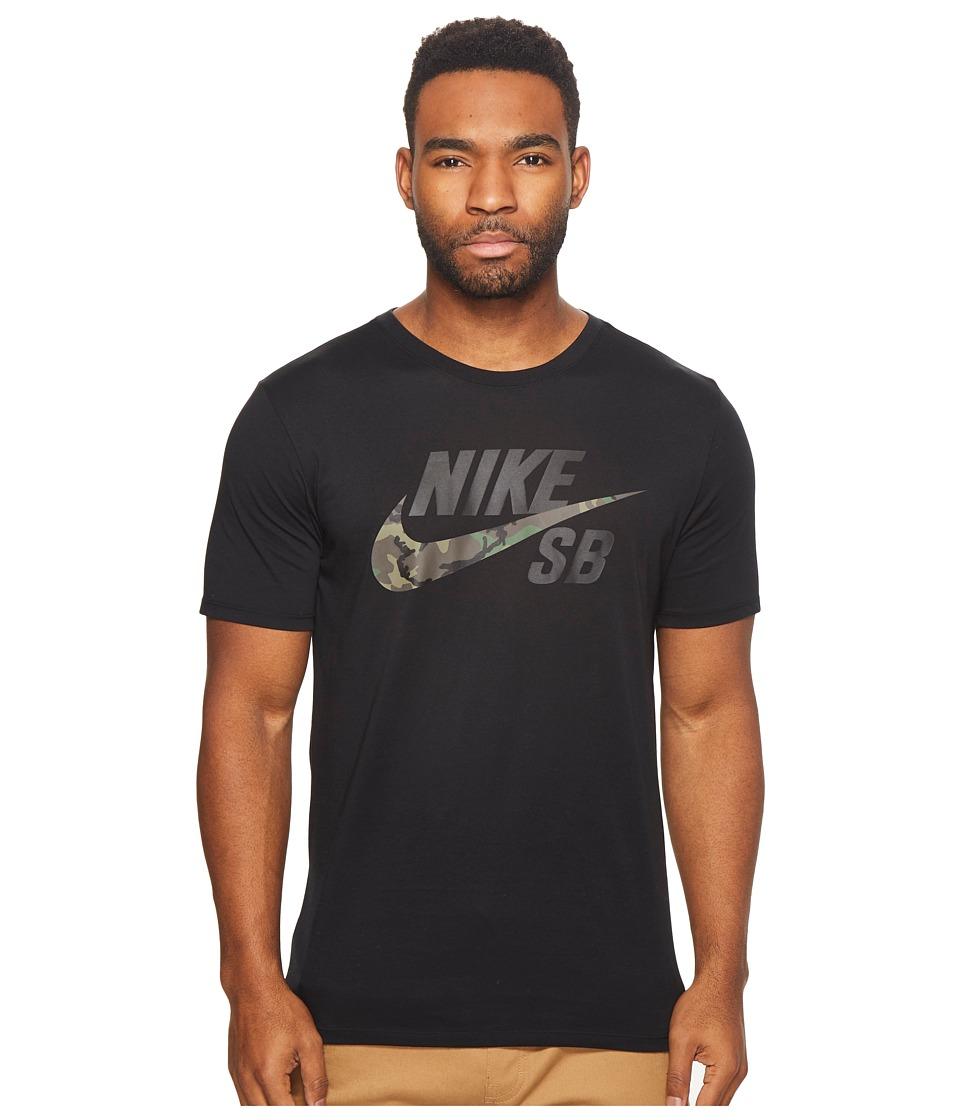 Nike SB SB Dri-FIT Skateboarding T-Shirt (Black/Black) Men