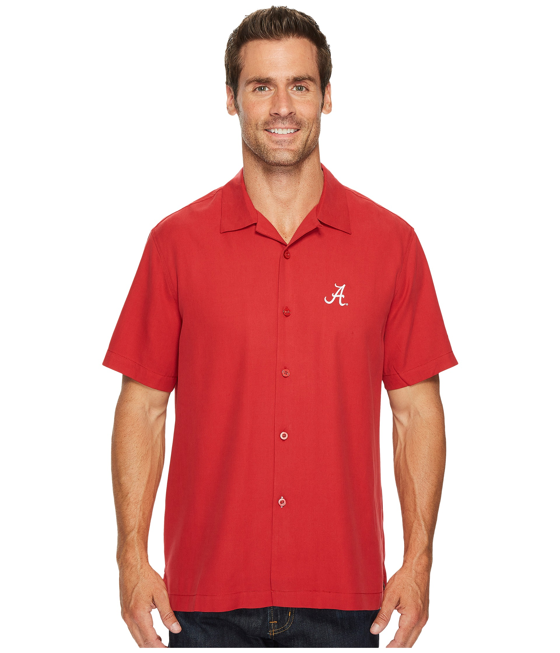 Tommy bahama collegiate series catalina twill at for Tommy bahama catalina twill silk camp shirt