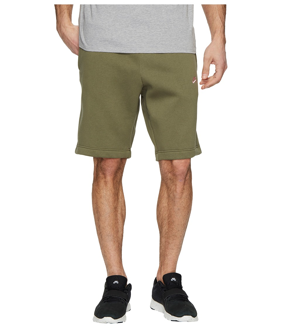 Nike SB SB Icon Fleece Short (Medium Olive/Elemental Pink) Men