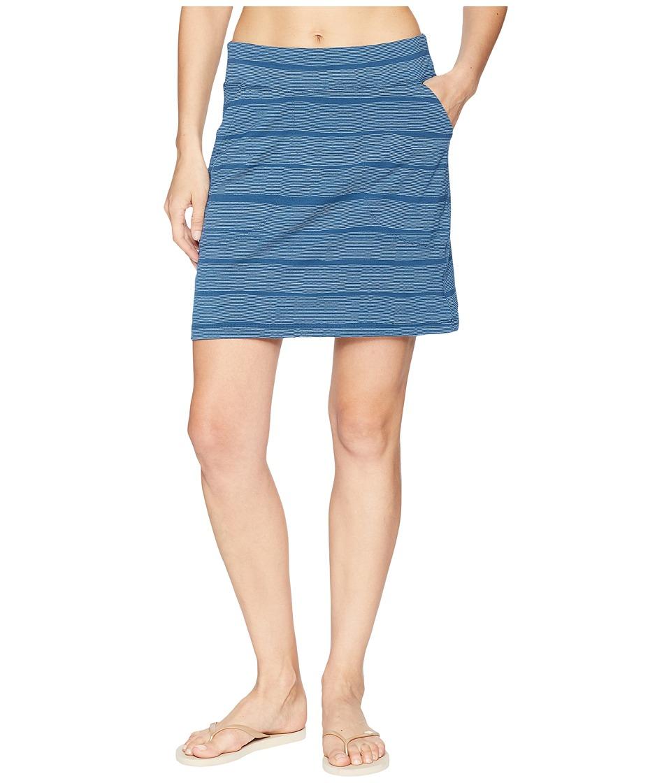 Icebreaker Yanni Merino Skirt Combed Lines (Prussian Blue/Snow) Women