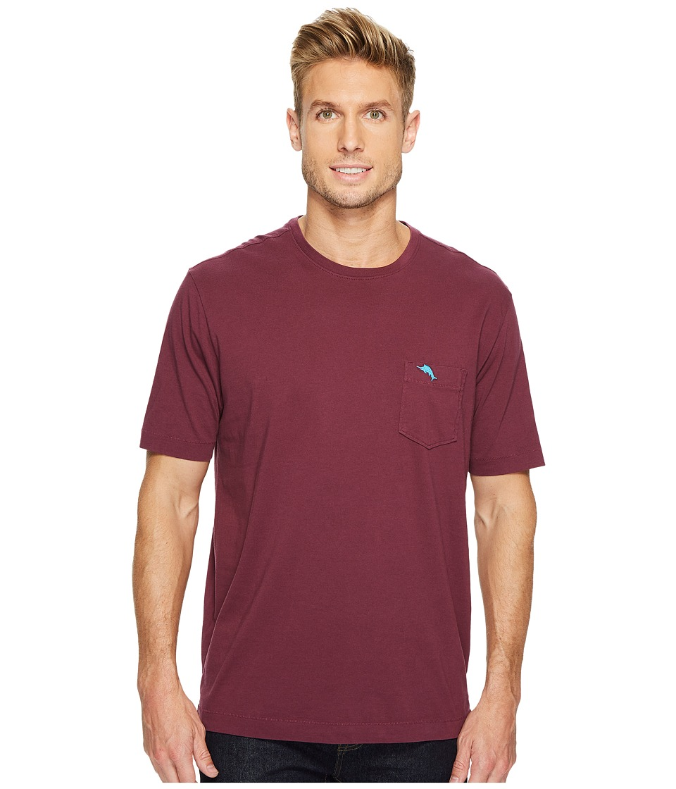 Tommy Bahama - New Bali Skyline T-Shirt (Grape Wine) Mens Short Sleeve Pullover