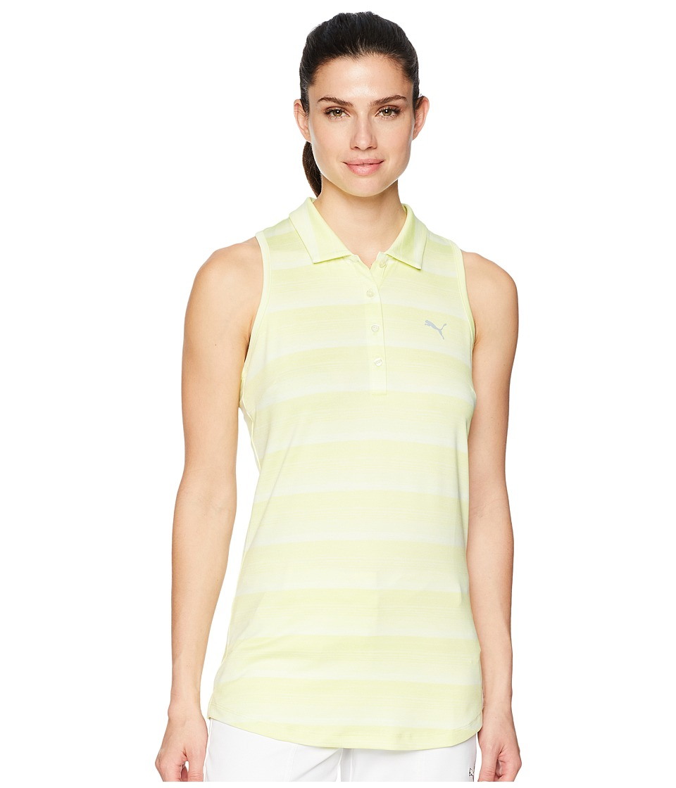 PUMA Golf - Racerback Polo (Sunny Lime) Womens Sleeveless