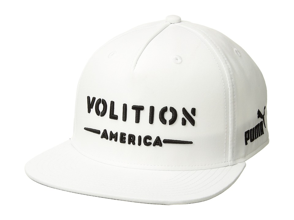 PUMA Golf - Volition Camo Snapback Cap (White) Baseball Caps