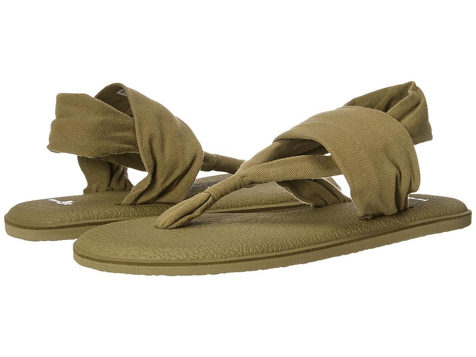 Sanuk Yoga Sling 2 Spectrum (Martini Olive) Sandals